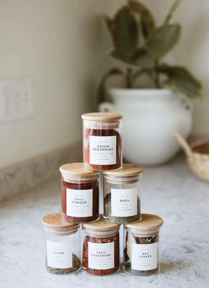 Updated Spice Jars