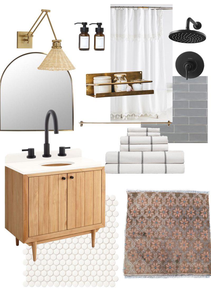 Basement Update and Bathroom Mood Board