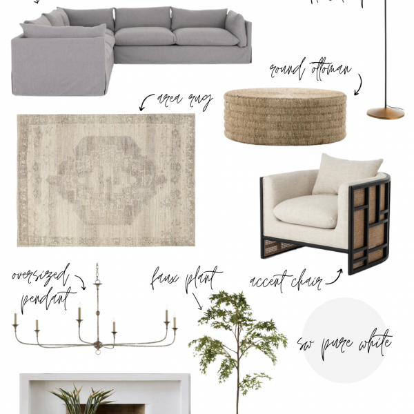 A glimpse at our cozy and causal living room design plans