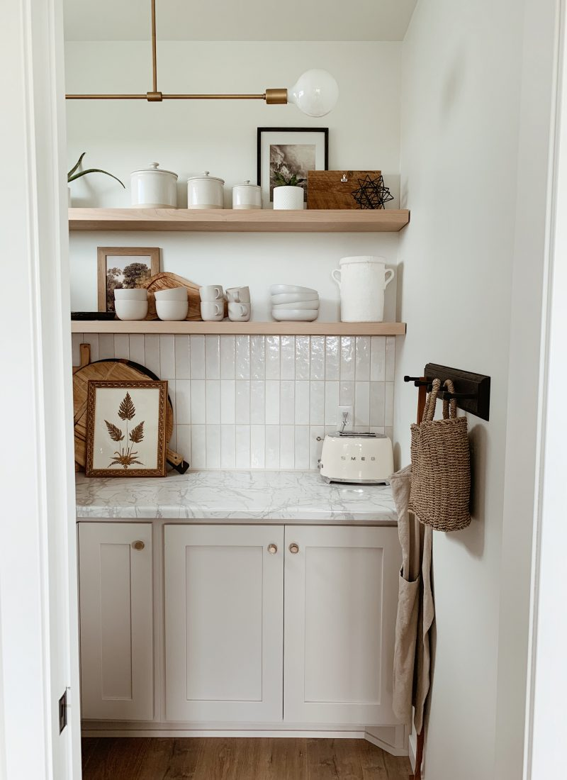 How to style open shelves with my favorite finds